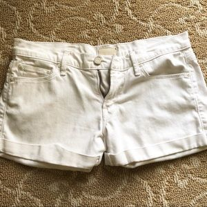 NWOT mother white jean shorts